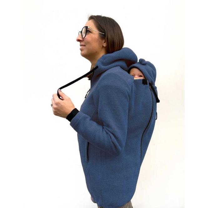 Wear Me veste laine 4in1 bleu