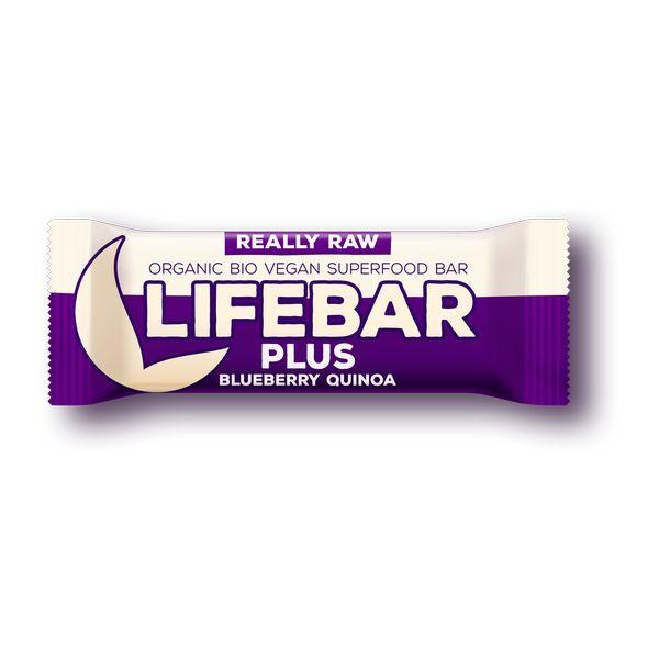 Organic Lifebar Plus Blueberry + Quinoa