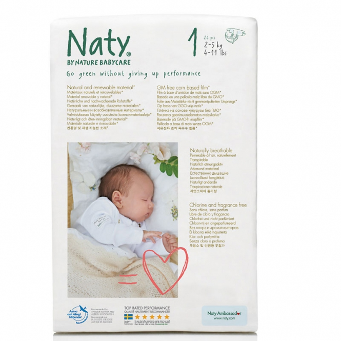 Naty couches bio FSC new born 2 - 5 kg 25 pcs/pack 1 Pack