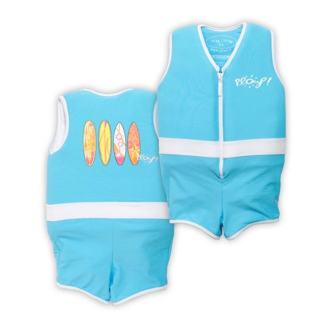 Plouf Floating Swimsuit Dante bleu