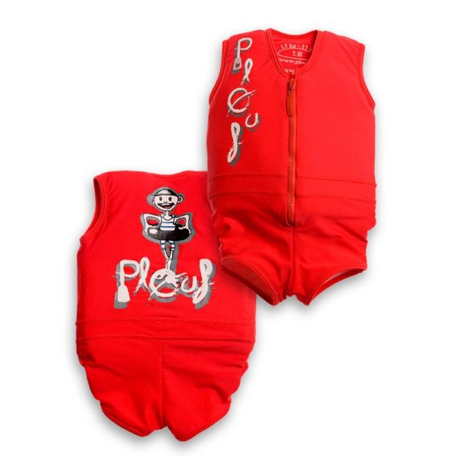 Plouf Floating Swimsuit Jim Rouge