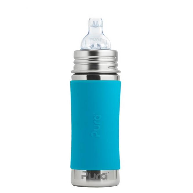 Pura Babyflasche 325 ml  Weithalssauger Aqua | .
