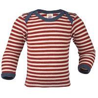 Engel Baby-Shirt wool RotMelange/Natur 61 | 86/92