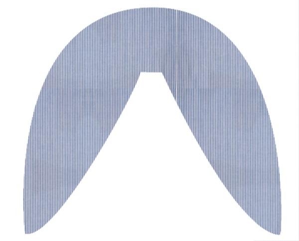Housse coussin SNAKE épeautre Fine Stripe blue 377 | .
