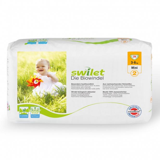 Swilet organic diapers Mini 3-6 kg