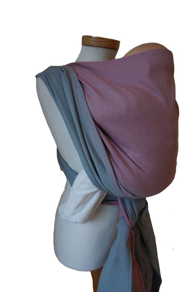 e1817df9ea85 Echarpe Storchenwiege Leo Duet rosé-grau